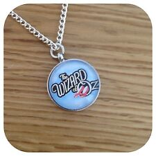 The ** Wizard of ** OZ  ruby slippers round necklace