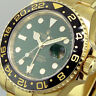 ROLEX GMT MASTER ll 116718 18K YELLOW GOLD GREEN ANNIVERSARY CERAMIC GREEN DIAL