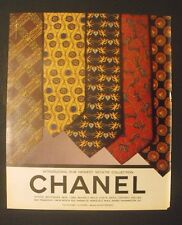 1995 CHANEL BOUTIQUES Necktie-Ties Angles~Chess Horse Men Fashion Promo Art AD