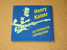 CD Single Henry Kaiser Alternate versions 3 inch EP SST 1988