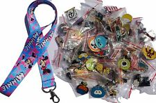 Disney World Pin Trading Lot Lanyard Starter Set Minnie Mouse Hearts w/ 10 Pins