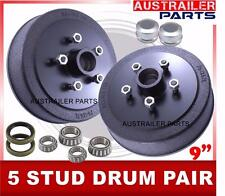 """9"""" 5-Stud Holden Commodore brake Drum kits with L/M bearings"""