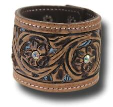Tough-1  Ladies' Skylar Collection Tooled Leather Cuff Bracelet Horse Tack
