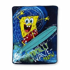 SpongeBob sponge bob Square Pants Wave surfing surf board SOFT blanket throw NEW