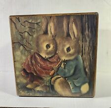 MAUDE RISHER CIARDI PAINTED WOODEN ALPHABET BLOCK VINTAGE SIGNED!