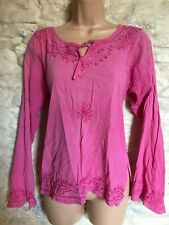 pink tunic top fit size 12 14