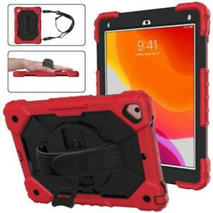 """For iPad Air 2 9.7"""" 10.2"""" 2020/19/18/17 Rugged Stand Kids Hand Strap Case Cover"""