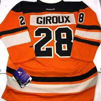 NWT Youth Claude Giroux Stitched Flyers Jersey Orange Reebok Youth L/XL