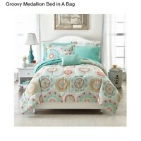 New Girl's Medallion Full Size Comforter Set Bedspread Sheets Teen Bedding Shams