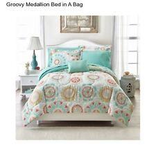 New Girl's Medallion Full Size Comforter Set Bedspread Sheets Teen Bedding Shams
