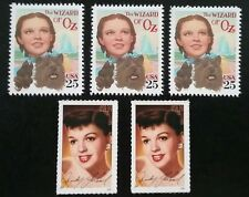 5 THE WIZARD OF OZ Judy Garland NEW Commemorative MINT US Postage Stamps Lot