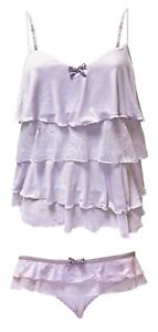 New La Senza - Ladies camisole Pyjama nightwear set, Vest top & Pants (Lilac)