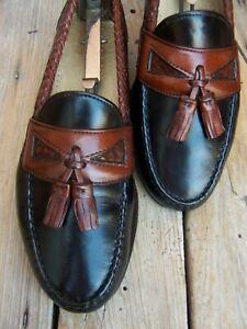 ALLEN EDMONDS Mens Black Brown Dress Shoes Comfortable Tassel Loafers Size 8.5D
