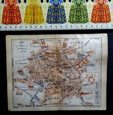 Antique Map Original : City of Aix en Provence, France, Year : 1920.