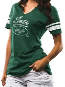 """New York Jets Women's Majestic NFL """"Game Tradition"""" Tri-Blend T-shirt"""