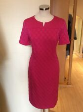 Gerry Weber Dress Size 10 BNWT Pink Textured Spotted Fabric RRP £130 NOW £39
