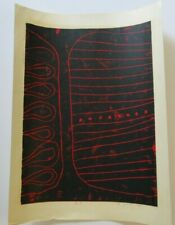 YUTAKA ARUGA WOODBLOCK PRINT JAPANESE MODERNISM WOODCUT LARGE ABSTRACT 1960'S