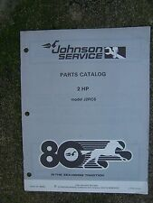 1980 Johnson Outboard Motor 2 HP J2RCS Parts Catalog MORE BOAT ITEMS IN STORE  S