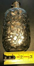 Gorham Antique Flask Sterling Silver 3/8 Pt Art Nouveau Victorian Filigree