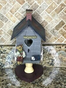 Boyd's Bear Home Sweet Home Decorative Birdhouse Hearts Country Home Sweet Home
