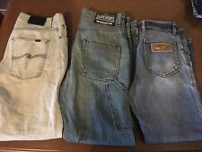 Mens Size 34 Denim Jeans R.M.Williams, SUPERDRY, Nudie Jeansco. BULK BUY X3 Pair