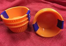 6 Orange Ramekin Sauce Cups -Side Sauce Dish Salsa Dip Bowl 4oz Brand New