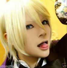 Black Butler Alois Trancy Blonde Short Straight Anime Cosplay Full Wig H-20