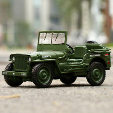 Jeep Willys 1:18 Scale Diecast Model Military US Army Vehicle Toys By KDW