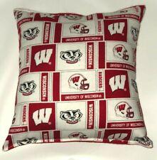 University Of Wisconsin Pillow Badgers Handmade In Usa Ncaa Pillow