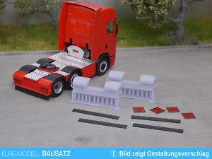 1:87 EM160 Bausatz 4x Heckstoßstange vollverkleidet für Herpa Scania 6x2