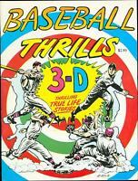 Baseball Thrills LB Cole cover art 1990 rare 3-D magazine Ray Zone   MBX92