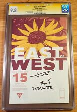 East of West 15, CGC 9.8 SS, signed and sketch by Dragotta, graded NM/MT
