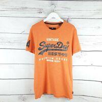 Superdry Mens Vintage Orange TShirt Size Medium