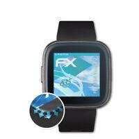 atFoliX 3x Lámina Protectora para Fitbit Versa 2 transparente&flexible