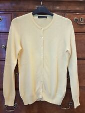 M&S Collection 100% Cashmere Primrose Yellow Cardigan, Size 10