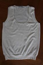 STRENESSE Damen Top Shirt Pullunder ivory wollweiß creme Kaschmir – S 36