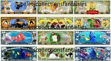 LOT de 6 Billets différents : DESSINS ANIMES  # 10 .  Commémoration / Collection