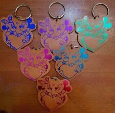 6 Piece Mickey & Minnie Leather Key Chains