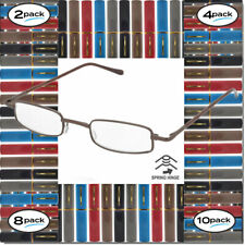READING GLASSES FOR MEN WOMEN WITH CASE 2, 4, 8, 10 PACK SPRING HINGE WITH CASE