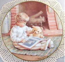 READ ME A STORY Boy Teddy Bear Young Innocence Series Collectible Plate Mint