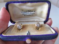 Beautiful antique ART DECO 14 K yellow and white gold diamonds earrings