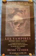 Affiche les Vampires Henri veyrier Galerie Bijan Aalam
