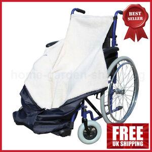 Wheelchair Cosy Fleece Lining Leg Wrap WATERPROOF Toe Outdoor Feet Blanket Cover
