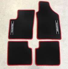 Autoteppich Fußmatten für Fiat 500 C Abarth Cabrio ab2009' rot weiss 4teilig Neu