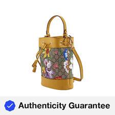 Gucci GG cubo pequeño patrón de flora Ophidia Bolso en Amarillo 550621 HV8HC 9782