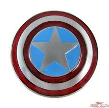 Captain America Shield unisex mens Metal Steel Diecast Superhero Belt Buckle
