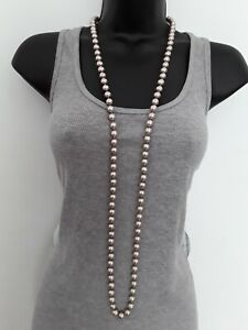 110cm Knot Tied Hypoallergenic Glass Bead String Necklace ref:C555