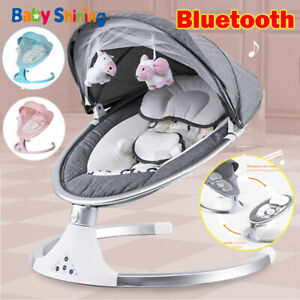 Bluetooth Electric Rocker Baby Swing Infant Cradle Bouncer Seat Chair with Timer
