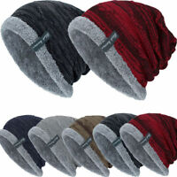 Men Women Knitted Baggy Beanie Winter Warm Hat Ski Causal Knit Cap Unisex Hat NB