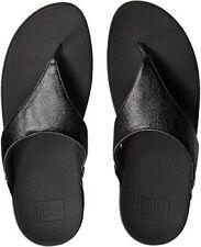 FitFlop Women's Lulu Glitzy Black Toning Flip Flop Thongs Sandals Size 8 US NEW